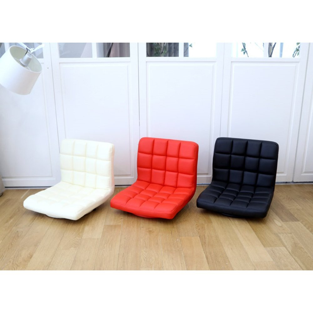 Korean Floor Pillows : DESSEN Swivel Sitting Cushion Floor Chair Leatherette Japanese type (Black) ? Korean E Market