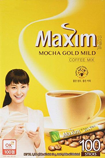 Maxim Mocha Gold Korean Instant Coffee ...