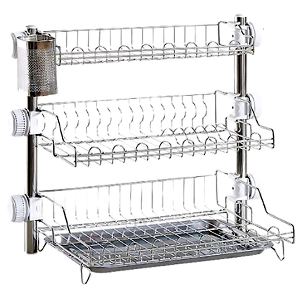 Tof Stainless Steel 3 Tier Kitchen Rack with Spoon holder & Plate ...