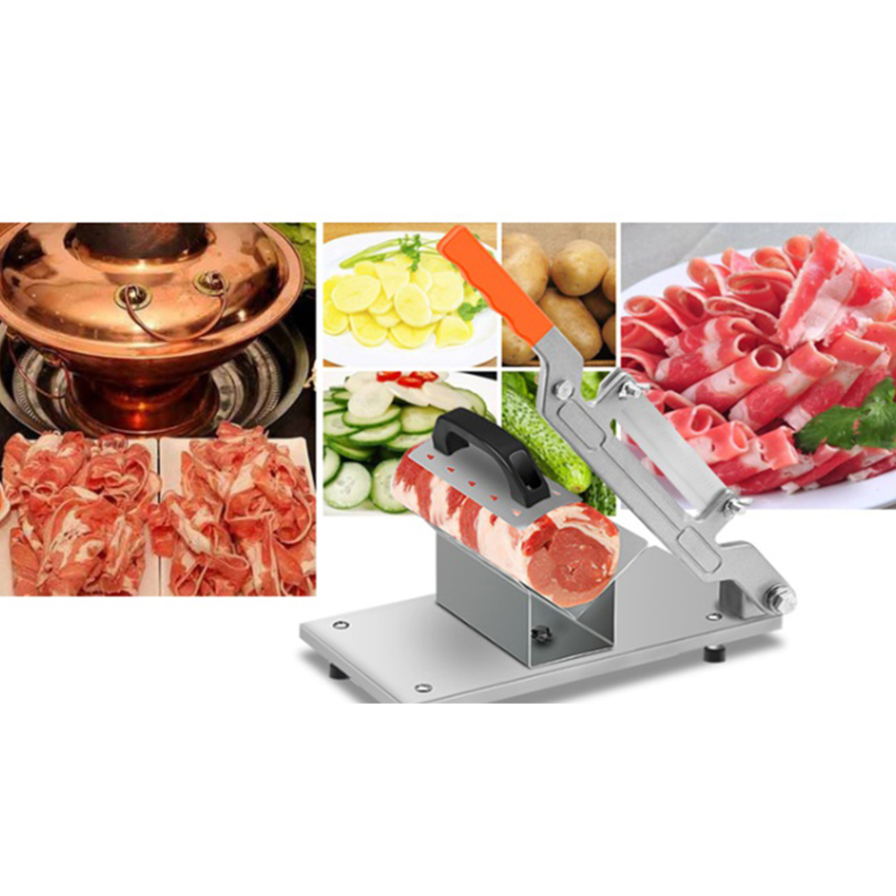 Review: Manual Frozen Meat Slicer Stainless Cutting Beef ...