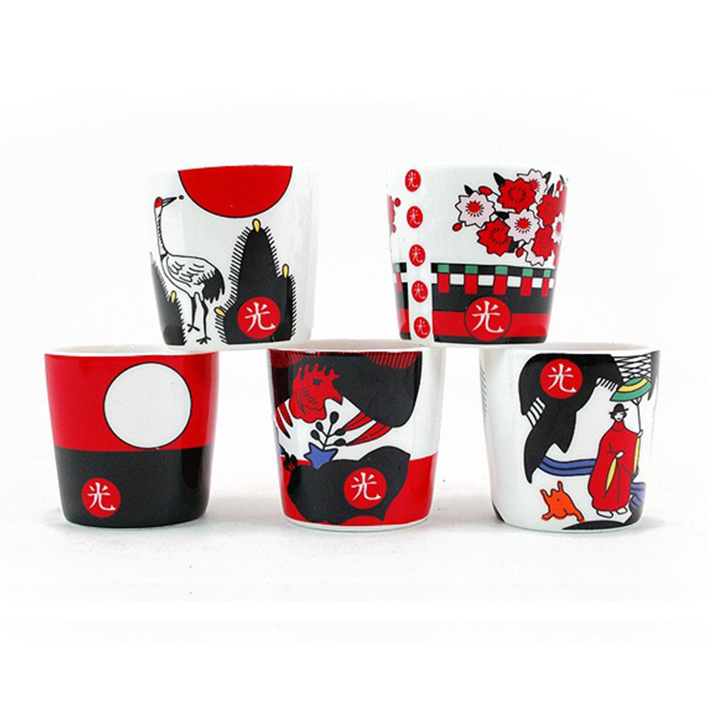 PARTYCRAFTS 2oz Korea Ceramic Soju Whiskey Shot Glass Set ...